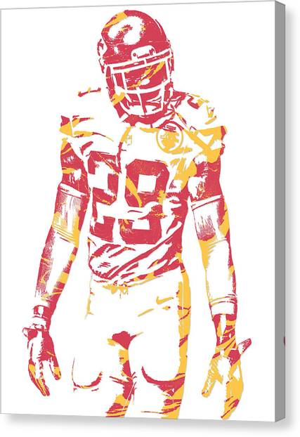 Kansas City Chiefs Canvas Print - Eric Berry Kansas City Chiefs Pixel Art by Joe Hamilton