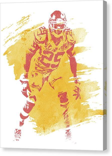 Kansas City Chiefs Canvas Print - Eric Berry Kansas City Chiefs Water Color Art 1 by Joe Hamilton