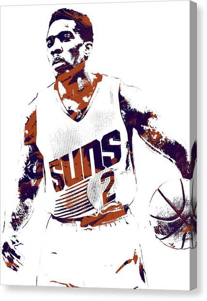 Phoenix Suns Canvas Print - Eric Bledsoe Phoenix Suns Pixel Art by Joe Hamilton