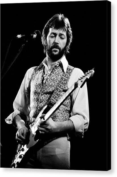 Eric Clapton Canvas Print - Eric Clapton 1977 by Chris Walter