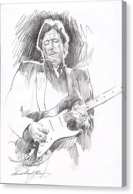 Eric Clapton Canvas Print - Eric Clapton Blackie by David Lloyd Glover