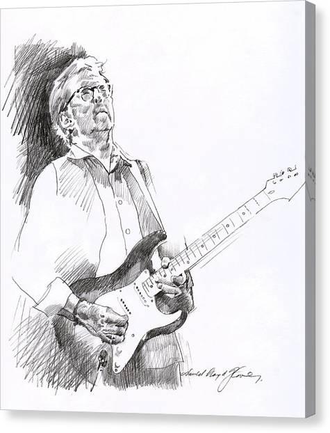 Eric Clapton Canvas Print - Eric Clapton Joy by David Lloyd Glover