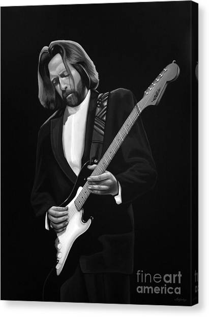 Bob Marley Artwork Canvas Print - Eric Clapton by Meijering Manupix