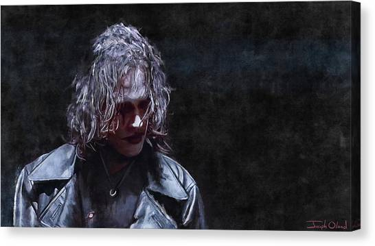 Doller Canvas Print - Eric Draven - The Crow by Joseph Oland
