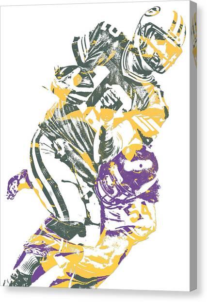 Minnesota Vikings Canvas Print - Eric Kendricks Minnesota Vikings Pixel Art 1 by Joe Hamilton