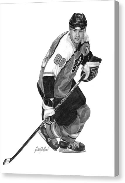 Hockey Players Canvas Print - Eric Lindros by Harry West
