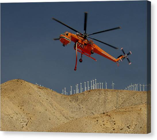 Skycrane Canvas Print - Erickson Skycrane by Alan Staats