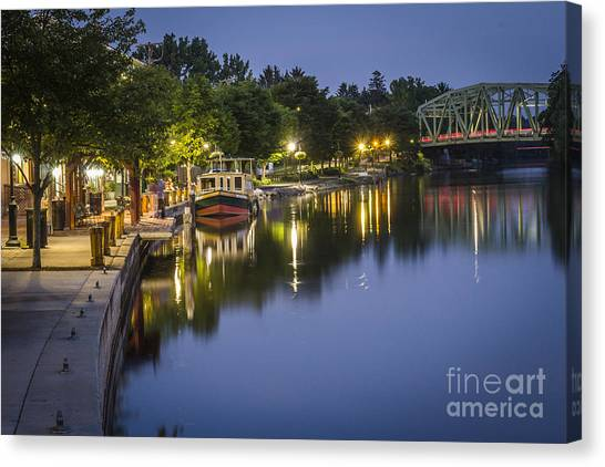 Erie Canal Stroll Canvas Print