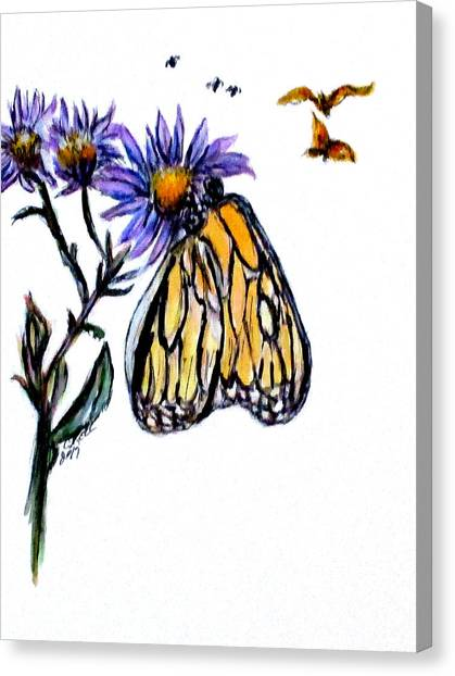Erika's Butterfly One Canvas Print