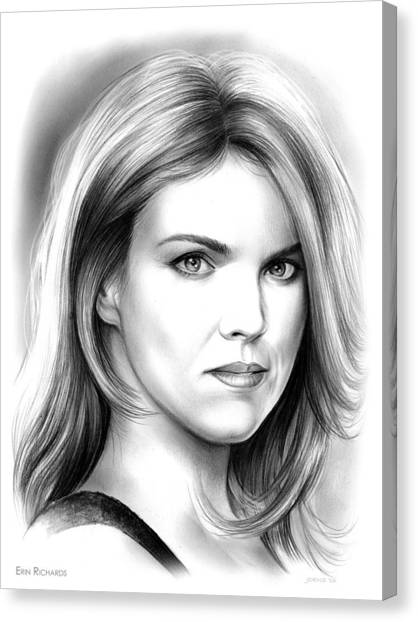 Human Beings Canvas Print - Erin Richards by Greg Joens