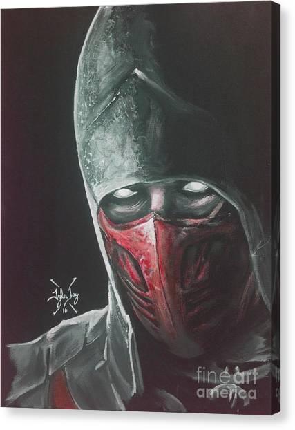 Mortal Kombat Canvas Print - Ermac by Tyler Haddox