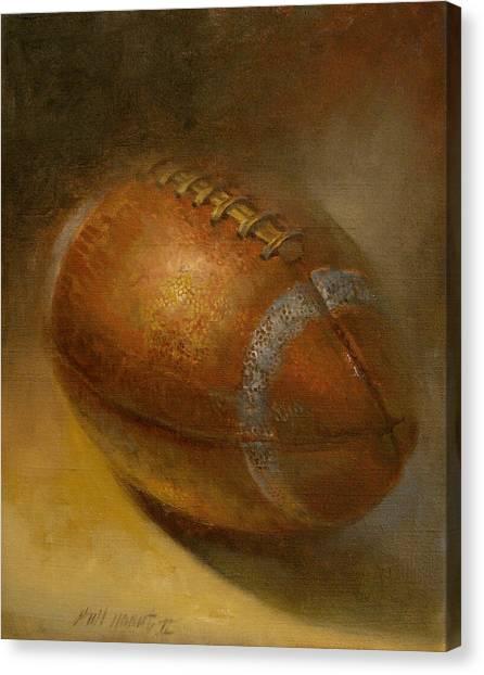 Walter Payton Canvas Print - Ernie Davis Tribute Football  by Hall Groat II
