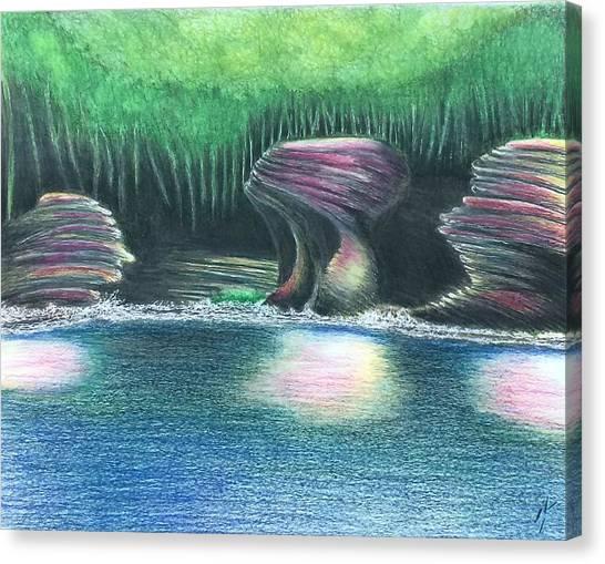 Eroding Away Canvas Print