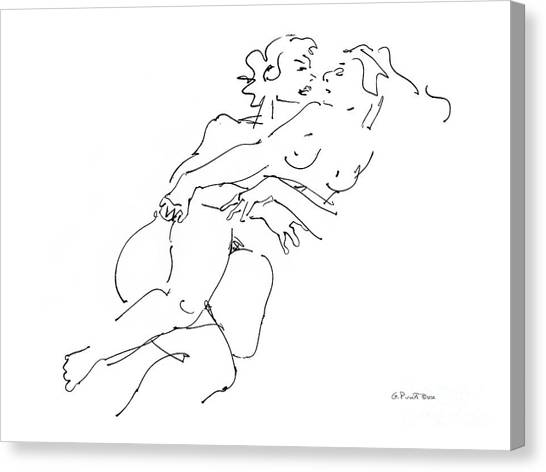 Erotic Art Drawings 13 Canvas Print
