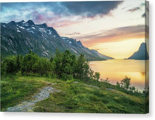 Ersfjord Sunset Canvas Print