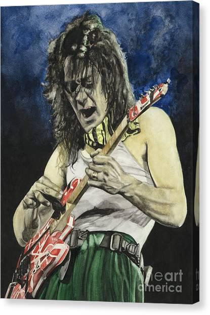 Van Halen Canvas Print - Eruption  by Lance Gebhardt
