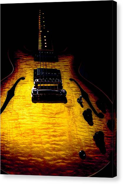 Es-335 Dots Flame Burst Spotlight Series Canvas Print