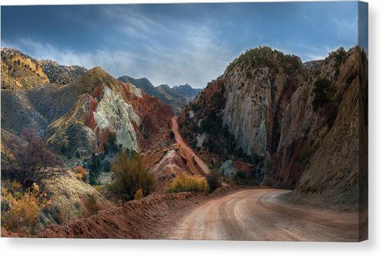 Grand Staircase Escalante Road Canvas Print