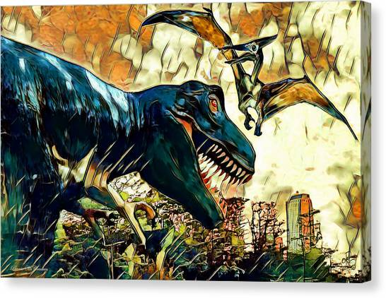Escape From Jurassic Park Canvas Print