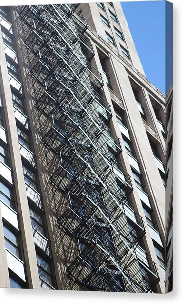Escaping A Chicago Brownstone Canvas Print