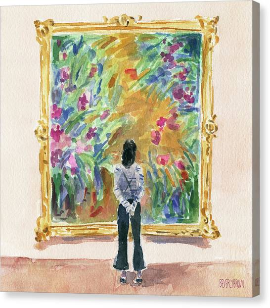 French Impressionist Canvas Print - Escaping Into Monet's Garden by Beverly Brown