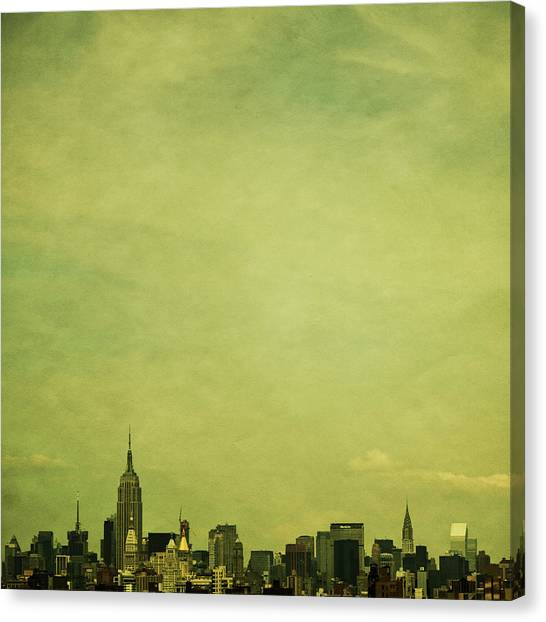 New York Skyline Canvas Print - Escaping Urbania by Andrew Paranavitana