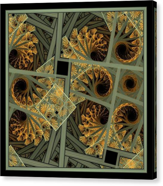 Escher Grey-fern Canvas Print