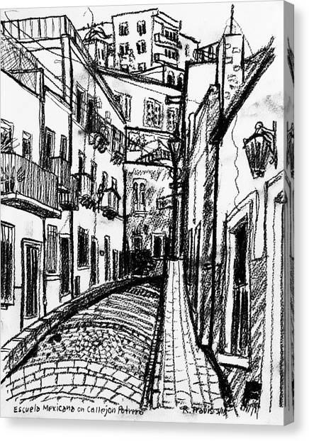 Canvas Print - Escuela Mexicana by Rich Travis