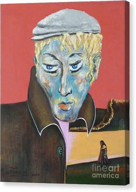 Esenin Canvas Print by Ushangi Kumelashvili