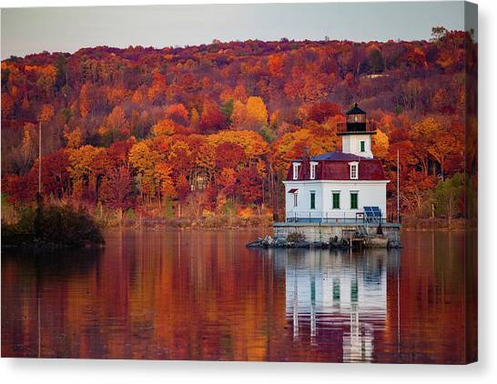 Esopus Lighthouse In Late Fall #1 Canvas Print
