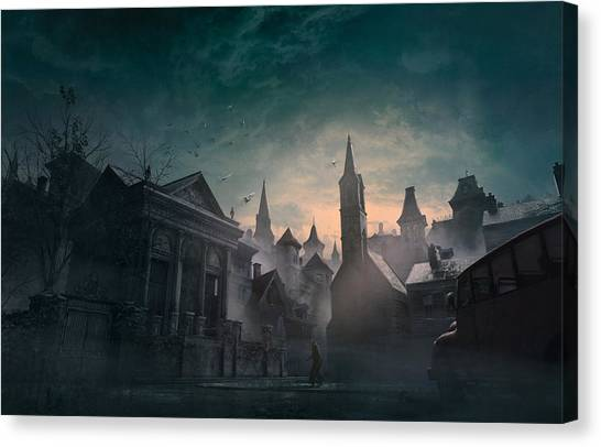 Boston Canvas Print - Esoteric Order Of Dagon by Guillem H Pongiluppi