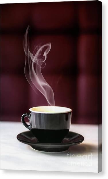 Coffee Mug Canvas Print - Espress Yourself by Evelina Kremsdorf
