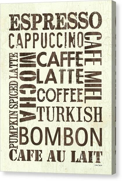 Roast Canvas Print - Espresso by Debbie DeWitt
