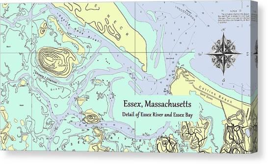 Essex River Detail Canvas Print