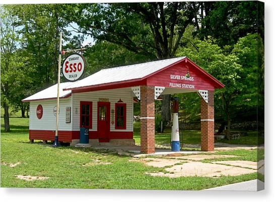 North Carolina Canvas Print - Esso Station by Greg Joens