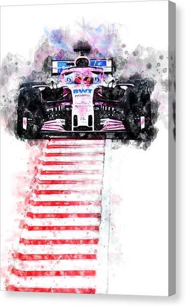 Cobra Canvas Print - Esteban Ocon 2018 by Theodor Decker