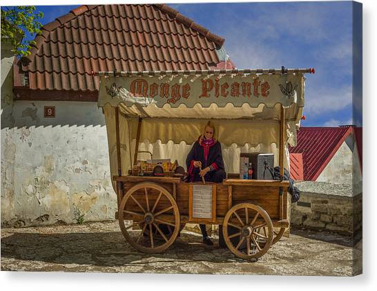 Sightseeing Canvas Print - Estonian Food Truck by Capt Gerry Hare