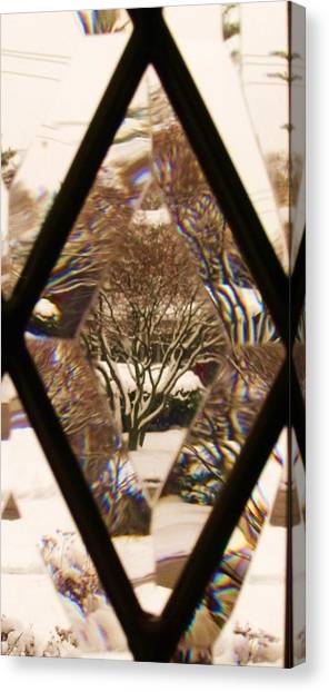 Etched Window View Canvas Print by Anna Villarreal Garbis