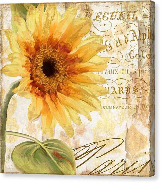 Summer Flowers Canvas Print - Ete by Mindy Sommers