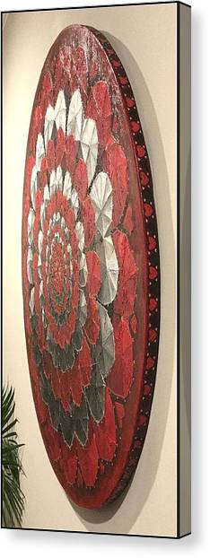 Canvas Print featuring the painting Eternal Hearts  by James Lanigan Thompson MFA