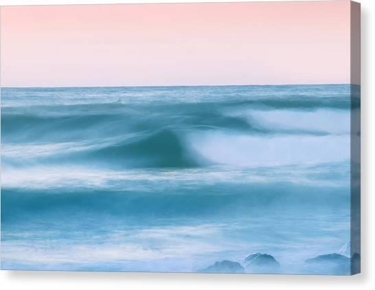 Beach Artwork Canvas Print - Eternal Motion by Az Jackson