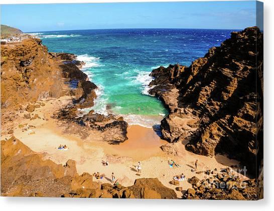 Canvas Print featuring the photograph Eternity Beach - Oahu, Hawaii by D Davila