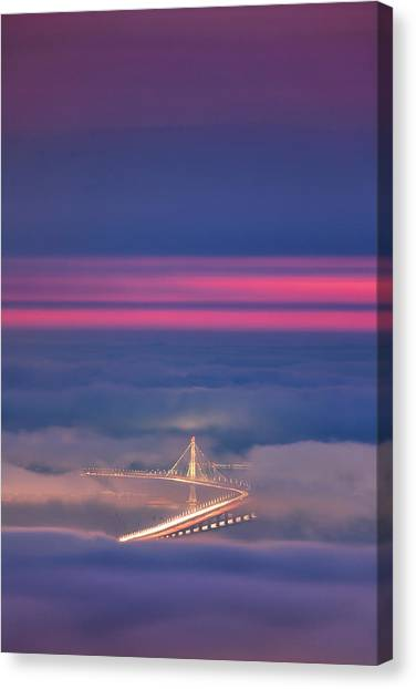 Ethereal Bridge, Oakland Bay Bridge Canvas Print by Vincent James