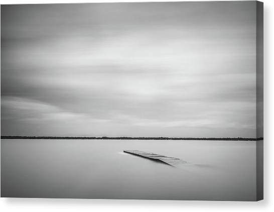 Ethereal Long Exposure Of A Pier In The Lake Canvas Print