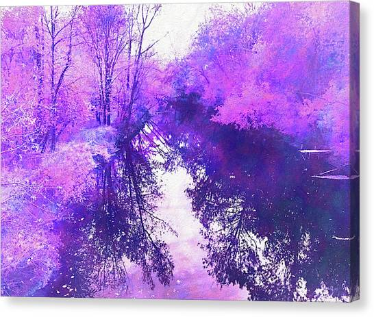 Ethereal Water Color Blossom Canvas Print