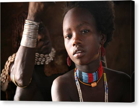 Ethiopian Hamer Girl Canvas Print