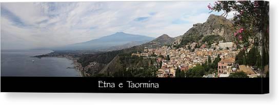 Etna E Taormina Canvas Print