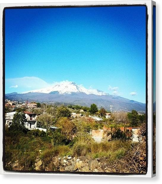 Vulcans Canvas Print - Etna Vulcano, #volcano #catania by Massimo Molino