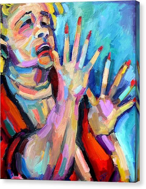 Etta James- At Last Canvas Print by Jackie Merritt