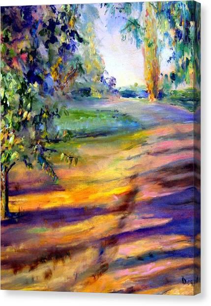 Eucalyptus At Sunset Canvas Print by Kathy Dueker